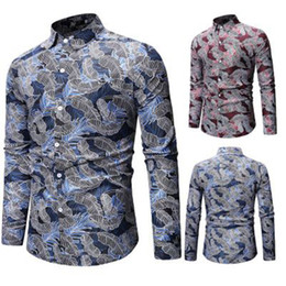 China Audoc Mens Spring and summer Geometric Irregular fashion color blouse Shirt Brand long Sleeve Plus Size Shirts Men Casual cheap spring blouses suppliers