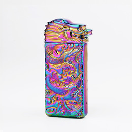 electronic lighter ignition UK - Colorful Zinc Alloy USB Bullion Dragon Head Charging Lighter Innovative Design Cyclic Charging Shake Ignition For Cigarette Herb Smoking DHL