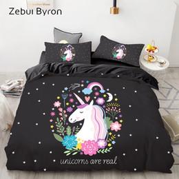 $enCountryForm.capitalKeyWord Australia - 3D Cartoon Bedding Set for Kids Baby,Duvet Cover Set Custom Europe USA Queen King,Quilt Blanket Cover unicron on black
