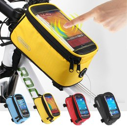 $enCountryForm.capitalKeyWord UK - Road Bicycle Bike Bags For iphone  redmi  Touch Screen Cycling Top Front Tube Frame Saddle Bags For 4.2 4.8 5.5 Cell Phone Cases