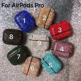 Wholesale air pod cases resale online - Luxury Diamond Shining Airpods1 Case for Apple Airpods1 Protector Cover for Air pods Airpod Cell Phone Case
