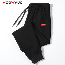 wholesale fashion sweatpants NZ - Men's Trouser Jogger Sweatpants Pants Cotton Straight Fashion Casual Slim Male Streetwear Elastic Masculino MOOWNUC Hip Hop