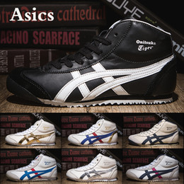 Asics running shoes for womAn online shopping - Asics Onitsuka Tiger New High Running Shoes For Men Women Black Stripe White Blue Designer Mens Sneakers Sport Shoes US