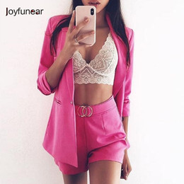 women office clothing Australia - Joyfunear Autumn Sexy Two Piece Set Women Suit 2018 New Shorts Casual Office Formal Business 2 Piece Set Women Tracksuit Clothes