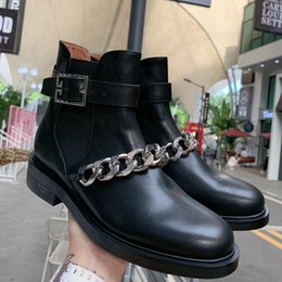 $enCountryForm.capitalKeyWord NZ - Asian Station New Korean Chain Shoes Fashion Boots Martin Boots Leisure, Slip-proof and Wear-resistant Sheepskin Inner Hardware Decorative A