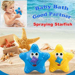 fountain electronics Australia - Baby Bath Starfishes Fountain Electronic Float Rotate Spray Water Swimming Pools Bathtub Star Squirt Infant kids Plush Toy