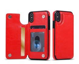 For iPhone 11 Pro Xs Max Xr Wallet Case Luxury PU Leather Phone Back Case Cover with Card Slots for Samsung Note10 S10