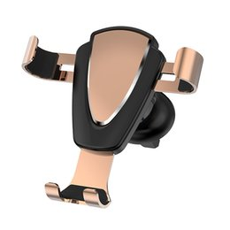 Wholesale Cell Phone Holder for Car Auto Clamping Air Vent Car Mount Holder Cradle for iPhone Samsung Huawei Smartphones