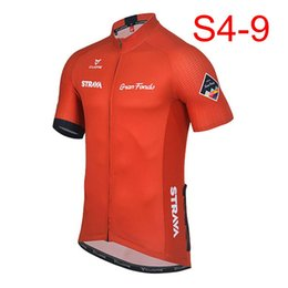 wholesale lycra clothes 2019 - 2018 STRAVA Men short sleeve cycling jerseys Cycling jerseys mtb cycle bike only shirt clothing Maillot Ciclismo K122409