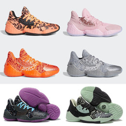 james harden basketball shoes Australia - Harden Vol. 4 Pink Lemonade Barbershop Cookies Cream Candy Paint Basketball Shoes Kids Mens Trainers James 4s Vol.4 Sports Sneakers