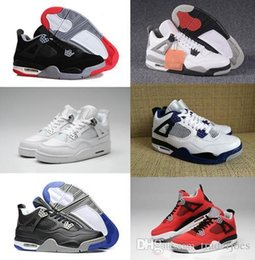 $enCountryForm.capitalKeyWord NZ - Traderjoes With Box Mens and Womens Basketball Shoes Sneakers for Men 4S White Cement Motorsport Pure Money Bred Fire Red Boots