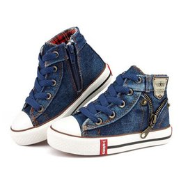 $enCountryForm.capitalKeyWord Australia - 2019 Canvas Children Shoes Sport Breathable Boys Sneakers Brand Kids Shoes for Girls Jeans Denim Casual Child Flat Boots 25-37