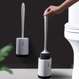 A Escobillas de Inodoro de Silicona,Cepillo para Inodoro,Escobillas de Ba/ño Cepillo Limpieza,para Inodoro para ba/ño,Escobilla WC