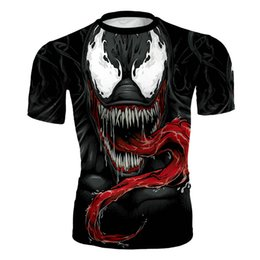 $enCountryForm.capitalKeyWord Australia - Men's fashion creativity t-shirt The Avenger tights tee superhero Venom sport short sleeves cycling fast dry basketball vest