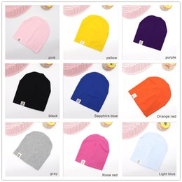 Knit Infant Hats Australia - 10 Colors Newborn Baby Boys and Girls Cotton Hat Candy Color Hats Soft Cute infant Knit Beanie Caps