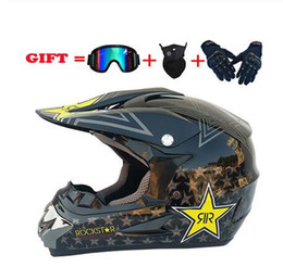 face off motorcycle helmet Australia - Motocross Helmet Outdoor Adult Full Face Off Road Racing Dirt Bike Motorcycle Helmet With Mask+Goggles+Glove S M L XL