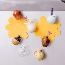 $enCountryForm.capitalKeyWord UK - Mini Ceramics Vase Fridge Magnet DIY Porcelain Vase Refrigerator Magnet Message Sticker 8 Designs Green Plant on Kitchen Gift