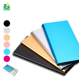 Wholesale Ultra thin Power Bank mAh With LED Flashlight Dual USB Output Portable Charging PowerBank USB External Battery