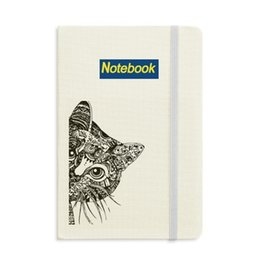 cat notebook notepad Canada - Line Drawing Black Cat Head Animal Notebook Classic Journal Diary A5