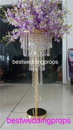 $enCountryForm.capitalKeyWord Australia - New style chandelier crystal centerpiece flower stand walkway stand for wedding decorations party event decorations best10137