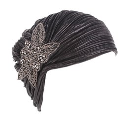 Chinese  Noble temperament gilded folds Indian hat ladies personality autumn and winter windproof hooded hat casual outdoor manufacturers