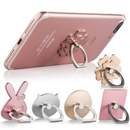 cat mobiles 2019 - Creative cat pig rabbit lucky grass mobile phone ring bracket car lazy bracket FOR: IPHONE Samsung Huawei OPPO and other