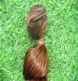 Medium Dark Brown Hair Australia - Dark Medium Brown Color Peruvian Virgin Hair Bundles Loose Weave 100% Human Hair Extensions Remy Hair Weaving 1 Piece  100g