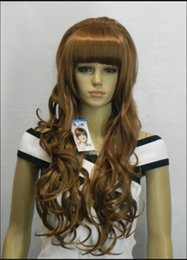 lolita curly hair 2019 - WIG shipping Women brown Lolita Hair Curly Full Long Wigs Anime Cosplay Party Wig discount lolita curly hair