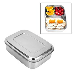 kids lunch box containers Australia - Hoomall 1pc Leak-Proof Stainless Steel Food Container Thermal Lunch Box Kids Picnic Bento Box With 3 Compartments Microwave Safe T191014