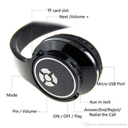Wireless Headphones For Home Australia - H666 Bluetooth studio Headphones Stereo Earphone With Mic Wireless Music Fold gaming Headset For Phone Computer Support TF FM Loud Speaker