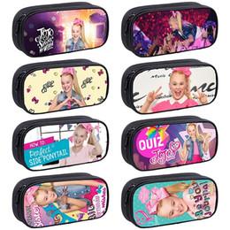 wholesale stationery for kids 2019 - Jojo Siwa Kids PencilBag Students PenBag for Kids Fashion New Cute High Quality Cute Stationery Bag Fashion PencilCase c