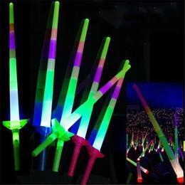 venda por atacado Festa Popular LEVOU Luz Varas Moda Telescópica Colorida Portátil Luminescente Vara de Natal do Dia Das Bruxas LED piscando varas 68 cm