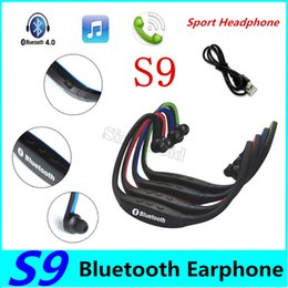 s9 sport neckband bluetooth headphone headset Australia - S9 Wireless Headphone Sport Bluetooth Earphone True Cordless Earbuds Handsfree Headset with Mic Earbuds Heaphones for SmartPhone