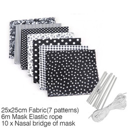 DIY Masks Homemade Dust Mask Materials Printed Mask Fabric to Sewing With Ear Rope Elastic Band Rope DIY Mask Kit GGA3382-3 on Sale