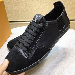 mens leather shoes designs Australia - 2019 highquality brand design shoes, mens shoes leather design sports shoes, mens running casual shoes brown and black with original pack qd