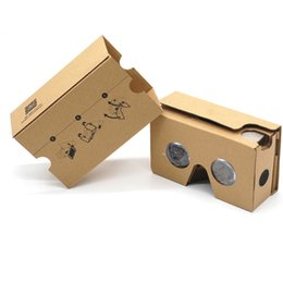 China DIY Google Cardboard 2.0 V2 3D glasses VR boxes Virtual Reality Viewing google Version II Paper Glasses for iphone x 6S 7 plus Samsung s9 cheap virtual reality iphone suppliers