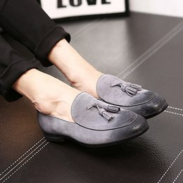 $enCountryForm.capitalKeyWord Australia - Plus Size 37-46 New Vintage Suede Leather Men's Comfortable male paty prom shoes Casual Loafers Round Toe Slip on Tassels Man Moccasin Shoes