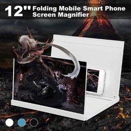 3d screen magnifier NZ - Mobile Smart Phone Screen Magnifier Amplifier Stand Bracket 3D HD 12 Foldable Free Hand Enlarge Screens Radiation protection