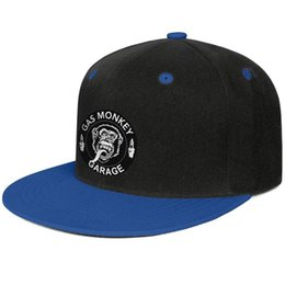 Orange Blue Vintage Hat Australia - Gas Monkey Garage logo art Design Hip-Hop Caps Snapback Flat Bill Brim Sun Hat Vintage Adjustable