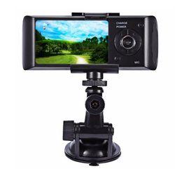 Slr Lens NZ - Dual Lens Car DVR X3000 R300 Dash Camera with GPS G-Sensor Camcorder 140 Degree Wide Angle 2.7inch Cam Video Digital Recorder