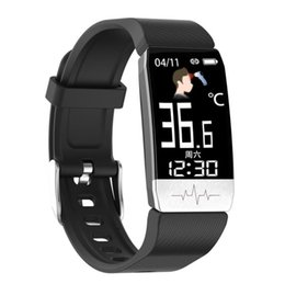 thermometer smart watch Australia - T1 Newest ECG PPG smart bracelet Measuring medical body temperature smart watch thermometer 2020