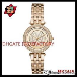 Wrist Watch Japan Movement Australia - Drop shipping Service Original Japan Movement New Gold Mini Darci Crystal Pave Dial MK3445 MK3446 MK3476 Wrist Watch for Women
