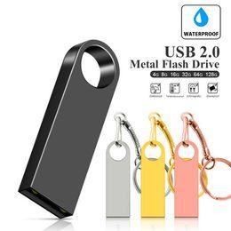 $enCountryForm.capitalKeyWord Australia - Happy Usb Flash Drive Pendrive 32GB 64GB 16GB 8GB 128GB Pen Drive Waterproof Metal Silver U Disk Memoria Usb Memory Usb Stick Flas