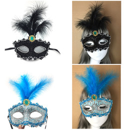 $enCountryForm.capitalKeyWord Australia - New Lace Dragon Pattern Half Face Maskss Masquerade Dance Performance Masks Halloween Party Princess Feather Masks Wholesale