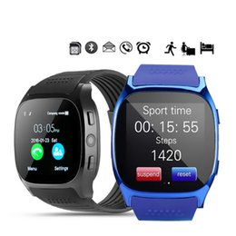 phone sensor 2019 - Smart Human Body Sensors T8 Bluetooth Smart Watch With Camera Facebook Whatsapp Support SIM TF Card Call For Android Pho