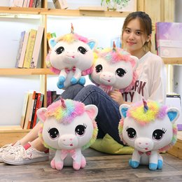 $enCountryForm.capitalKeyWord Australia - Lovely Unicorn Plush Toys Soft Stuffed Cartoon Unicorn Dolls Cute Animal Horse Toys for Children Girls Birthday Gift kids toys