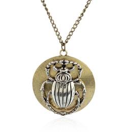 $enCountryForm.capitalKeyWord Australia - Vintage Bronze Metal Steampunk Gear Beatles Insect Bronze Pendant Necklace Jewelry Crafting Pendants Accessories