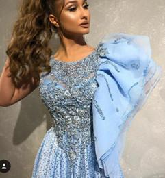 $enCountryForm.capitalKeyWord Canada - Evening dress Yousef aljasmi Labourjoisie 36Zuhair murad A-Line Jewel Short Sleeve Light Sky Blue Tulle Beaded Crystal Long Dress James_paul