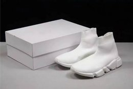 best black sneakers for men 2019 - Best Level For 2019 Women Men Sock Walking Shoes Black White Red Speed Trainer Sports Sneakers Top Boots Casual shoe men