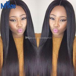 $enCountryForm.capitalKeyWord Canada - MikeHAIR Wholesale Human Hair Weave 4 Bundles Brazilian Straight Hair Extensions Factory Supply Peruvian Indian Malaysian Human Hair Bundles